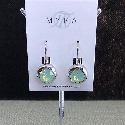 Myka Chrysolite Opal Round Earrings