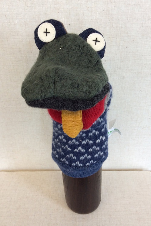 Blue Spotted Frog Hand Puppet