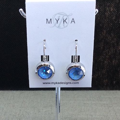 Myka Ocean Delight Round Earrings