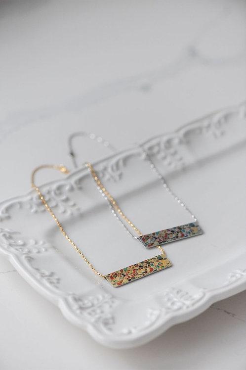 Floral Sunburst Bar Necklace
