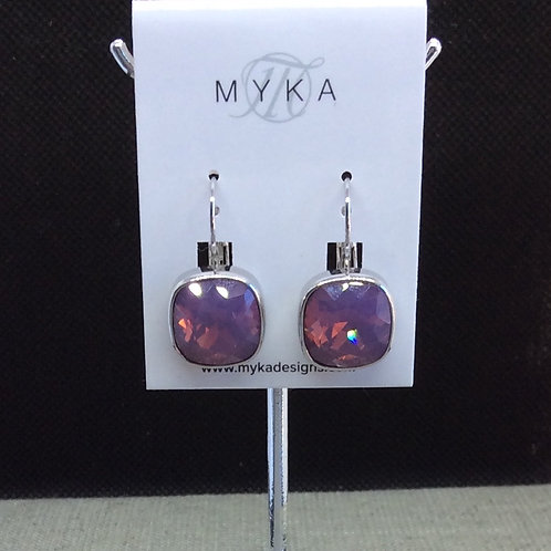 Myka Cyclamen Opal Medium Cushion Earrings