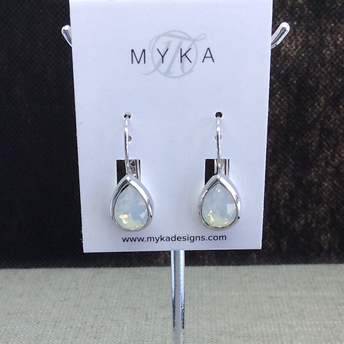 Myka White Opal Medium Teardrop Earrings