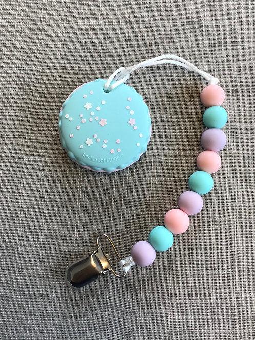 Blue Macaron Cookie Baby Chew