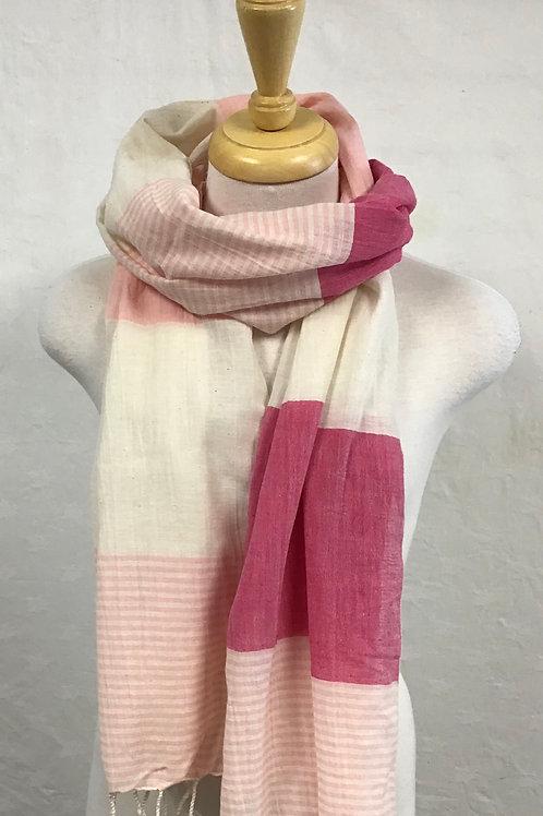 Pokoloko Pink & White Scarf