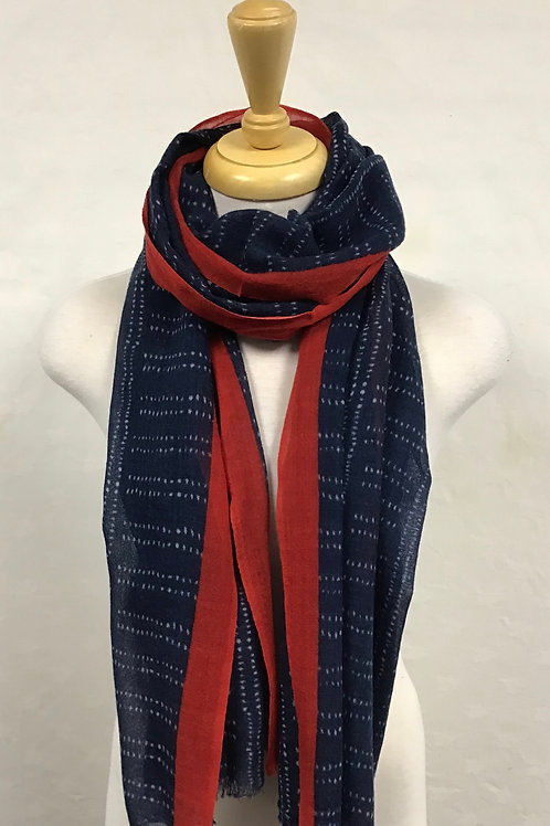 Kemi Navy and Red Scarf