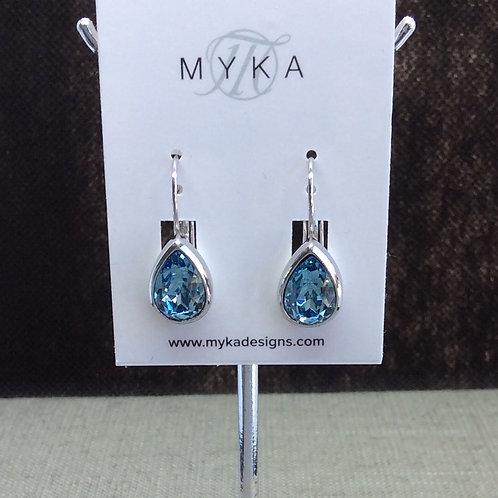 Myka Aquamarine Medium Teardrop Earrings