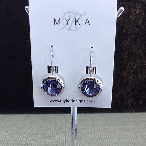 Myka Tanzanite Round Earrings