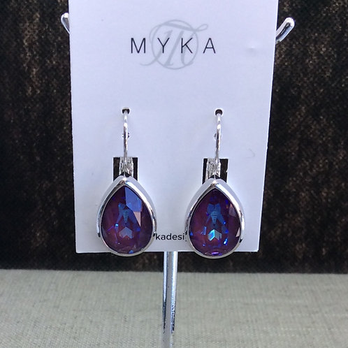 Myka Army Green Large Teardrop Earrings