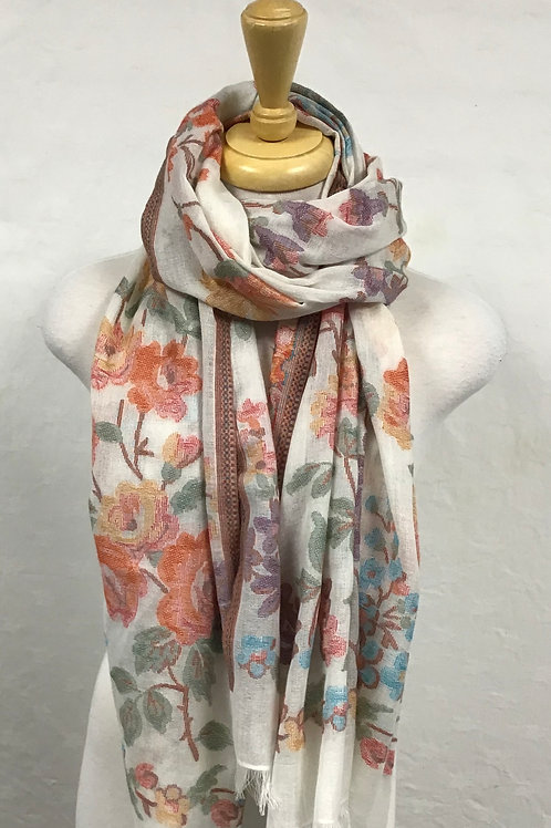 Kemi Embroidered Look Scarf