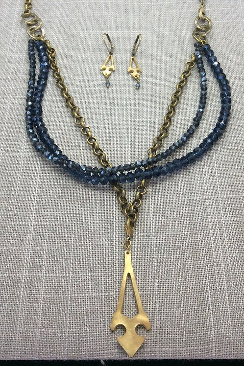 LCarr Necklace, Earrings & Bracelet 3-piece set