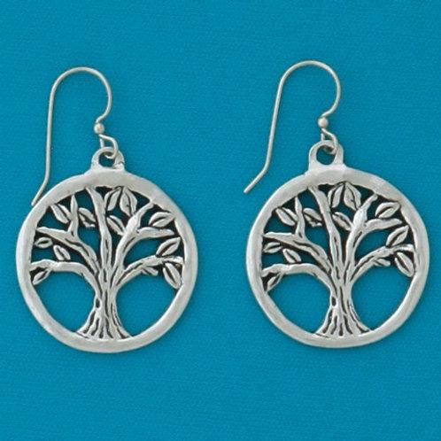 Circle Tree Earrings