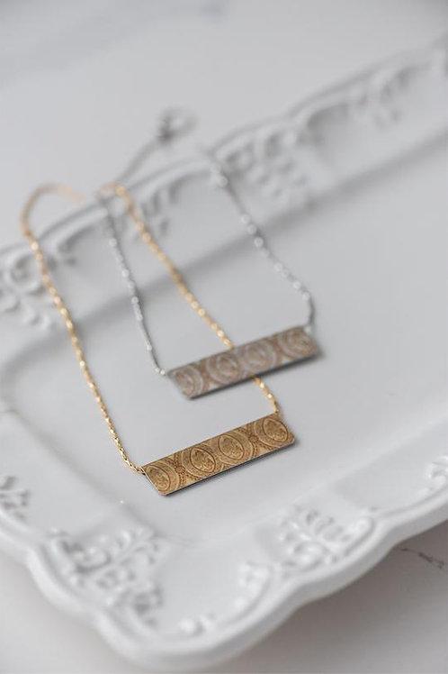 Cameo Bar Necklace