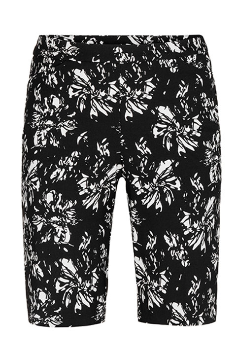 Flatten It Pull on Bermuda Casual Pants Floral