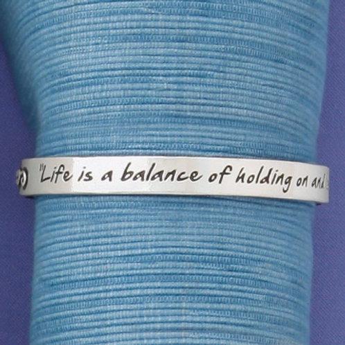 Life is a Balance Bangle