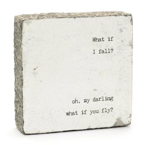 """""""What if I Fall?..."""" Little Gem Art Block"""