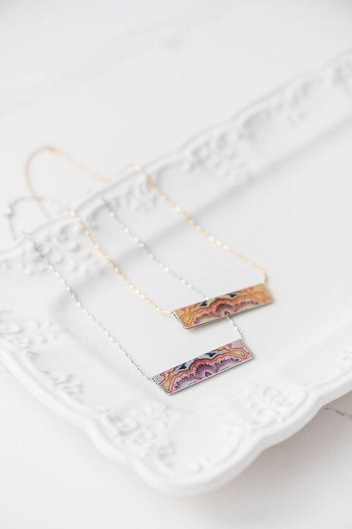 Copper Agate Bar Necklace