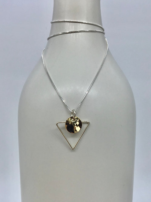 GAM Triangle with Hammered Gold Disc 9