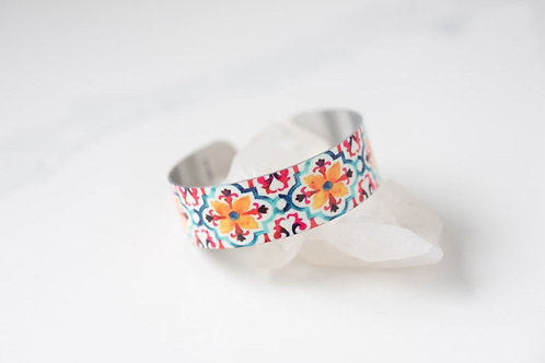 Moroccan Tile Small Cuff