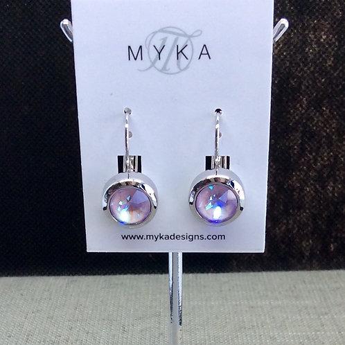 Myka Lavender Delite Round Earrings