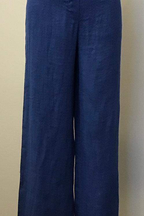 Luca Vanucci Blue Linen Pant
