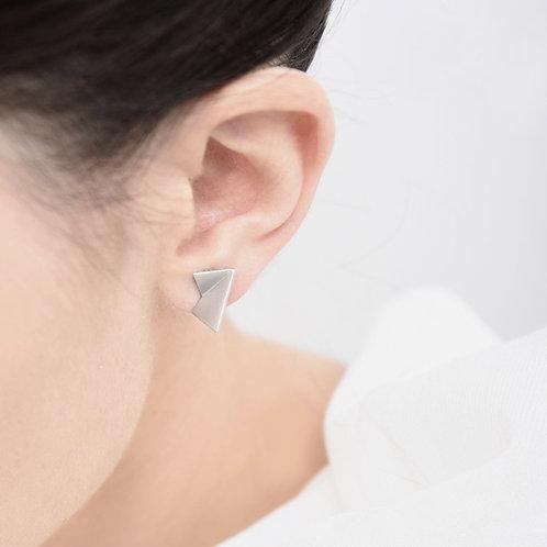 TriFold Stud Earrings