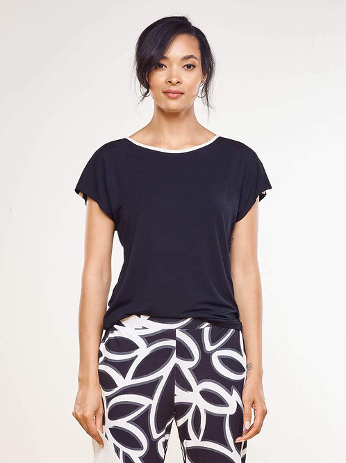 Trinity Dolman Top with Piping