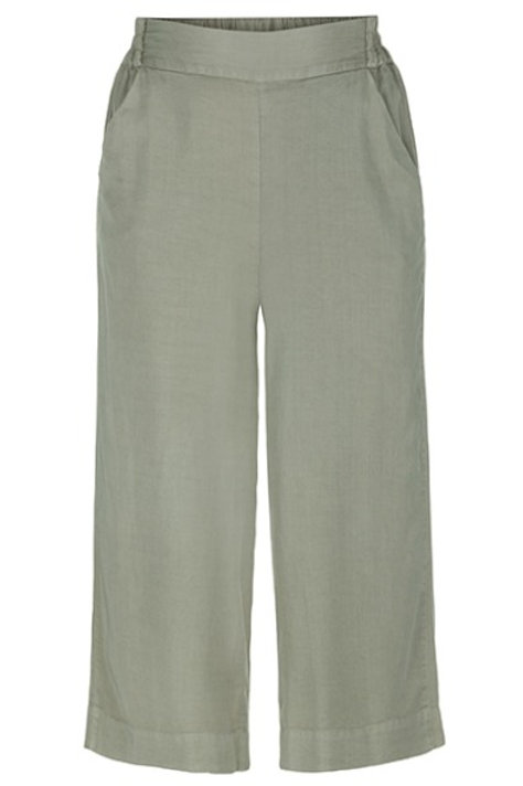 Pull-on on Cropped Palazzo Pants