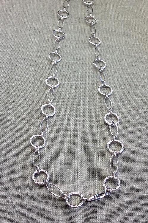 Myka Hammered Circle & Eye Shaped Link Chain