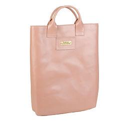 Легкая и компактная сумка-пакет из кожи.