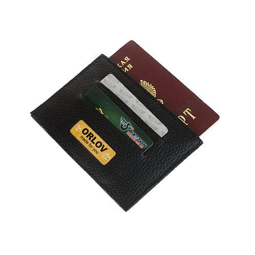Обложка на паспорт с именной шильдой.