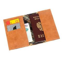 Обложка для паспорта и 4 карт.