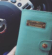 Фото отзыв, портмоне с логотипов из бирюзовой кожи