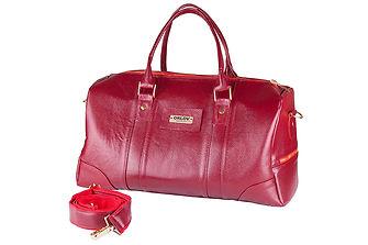 Дорожная сумка. Красная натуральная кожа.