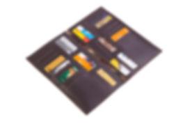Книжкапод визитки из кожи. На 36 карт.