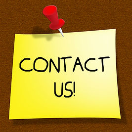 Picture of clipart that says contact us.