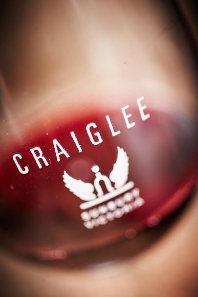 A glass of Craiglee Shiraz