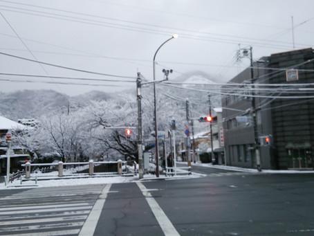 雪の大文字へ