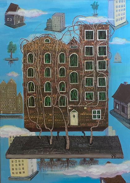 17 M.B.Sarnecka Latające domy 50x70 1200