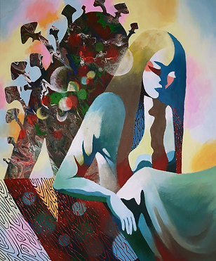 Psychedelic Shadow, acrylic on canvas, 5