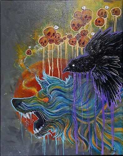 Aleksandra G, END farby i pisaki akrylow
