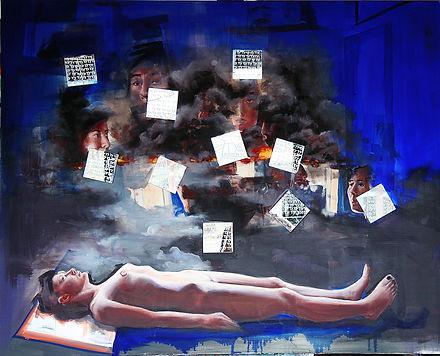 Kaligrafia tortury-gwalty wielokrotne 12