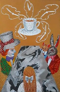 Wonderland Timeless tea, acrylic on canv
