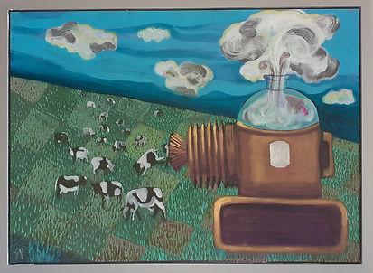 16 M.B.Sarnecka Cowsmaker 56x76 z ramą 1