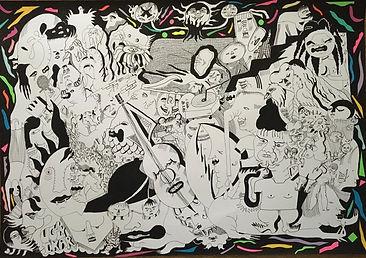 Gil 70x100 tusz akrylowy na papierze 110