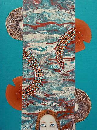 Wonderland Who am I, acrylic on canvas,