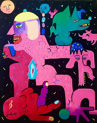 Macro, 2020, acrylic on canvas, 50x40 Mo
