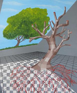 The Tree, akryl na płótnie, 50 x 60 cm.j