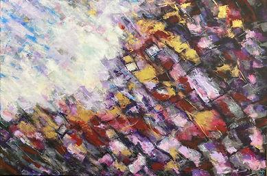 Szulborska Abstrakcja, akryl na płótnie,