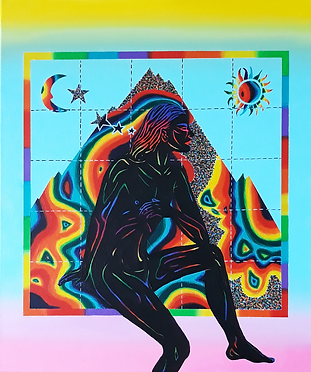 Acid Landscape, acrylic on canvas, 50 x
