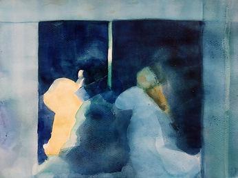side by side_30x40cm_watercolor Karpiel